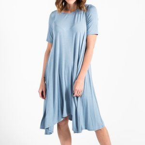 AGNES & DORA SLATE BLUE JOPLIN DRESS